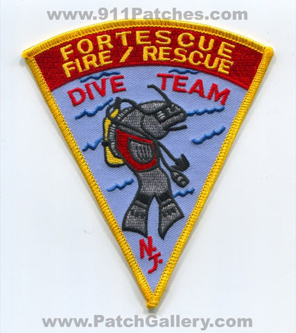 Fortescue Fire Rescue Department Dive Rescue Patch New Jersey NJ
