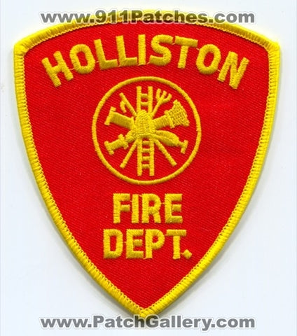 Holliston Fire Department Patch Massachusetts MA