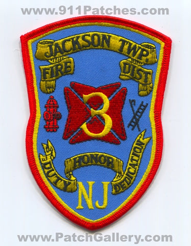 Jackson Township Fire District 3 Patch New Jersey NJ