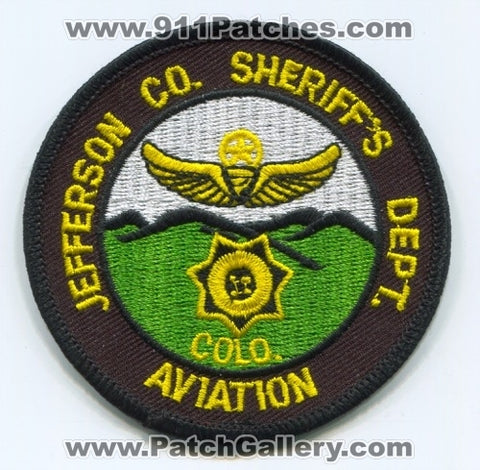 Jefferson County Sheriffs Department Aviation Patch Colorado CO