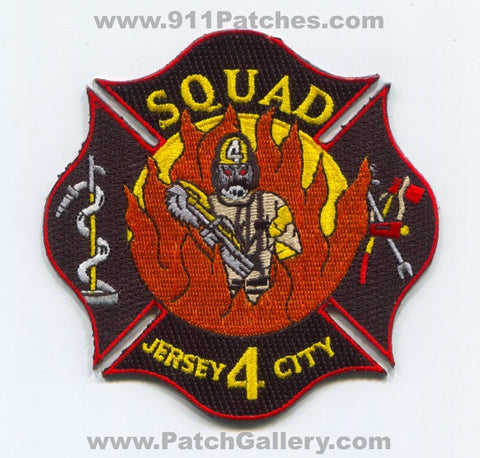 Jersey City Fire Department Squad 4 Patch New Jersey NJ