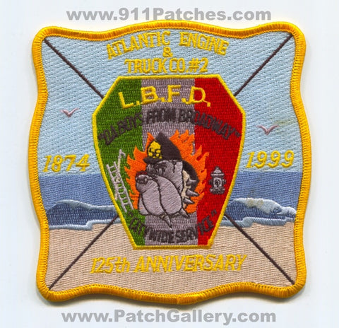 Long Branch Fire Department 125th Anniversary Engine Truck Patch New Jersey NJ