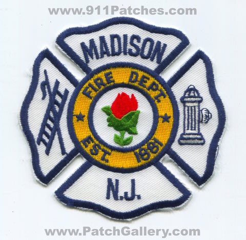 Madison Fire Department Patch New Jersey NJ