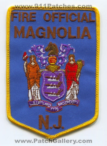 Magnolia Fire Department Fire Official Patch New Jersey NJ