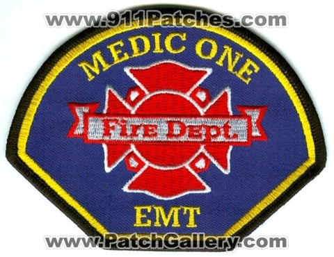 Gig Harbor Peninsula Pierce County Fire District 5 Medic One EMT EMS Patch Washington WA