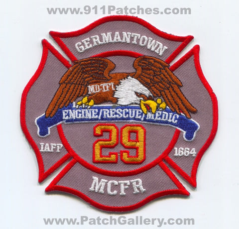 Montgomery County Fire and Rescue Department Station 29 Patch Maryland MD
