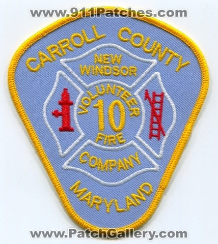 New Windsor Volunteer Fire Company 10 Patch Maryland MD