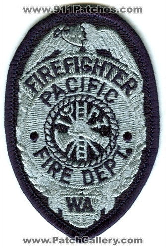 Pacific Fire Department Firefighter Patch Washington WA