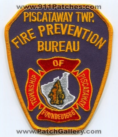 Piscataway Township Fire Prevention Bureau Patch New Jersey NJ