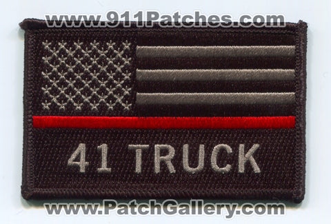 Pleasant View Fire Department 41 Truck Thin Red Line American Flag Patch Colorado CO