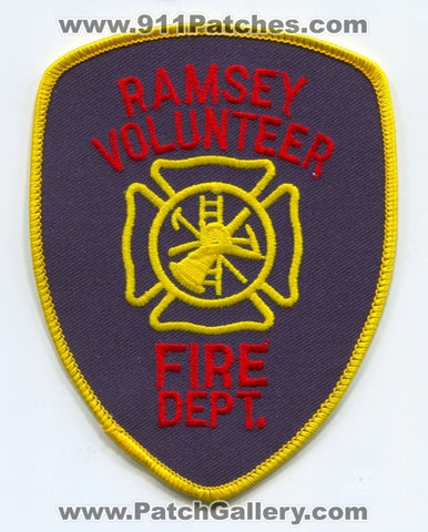 Ramsey Volunteer Fire Department Patch Unknown State
