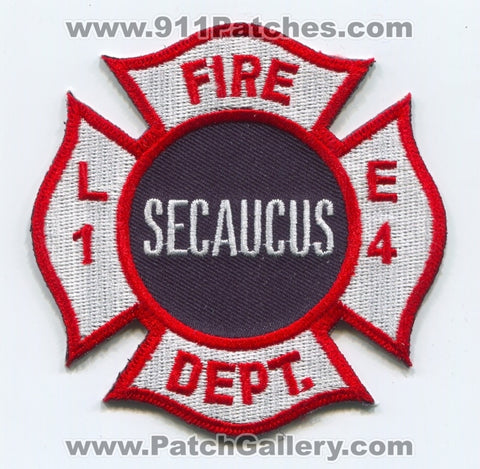 Secaucus Fire Department Engine 4 Ladder 1 Patch New Jersey NJ