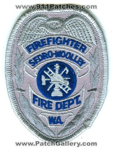 Sedro-Woolley Fire Department Firefighter Patch Washington WA