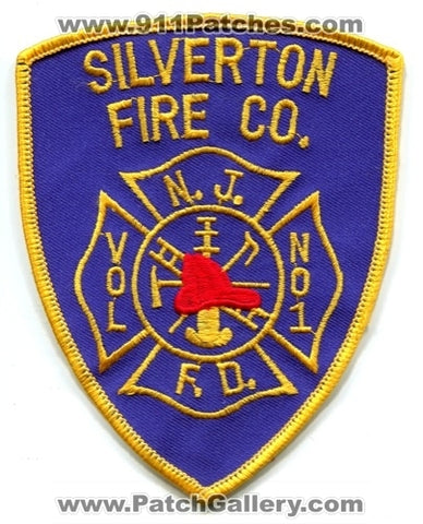 Silverton Volunteer Fire Company Number 1 Patch New Jersey NJ
