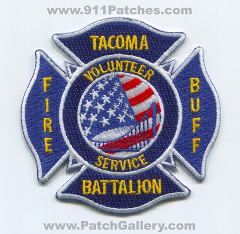 Tacoma Fire Buff Battalion Volunteer Service Patch Washington WA