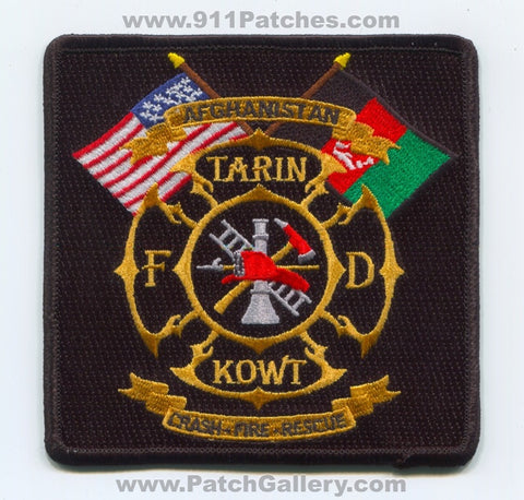 Afghanistan - Tarin Kowt Fire Department Crash Fire Rescue CFR Patch