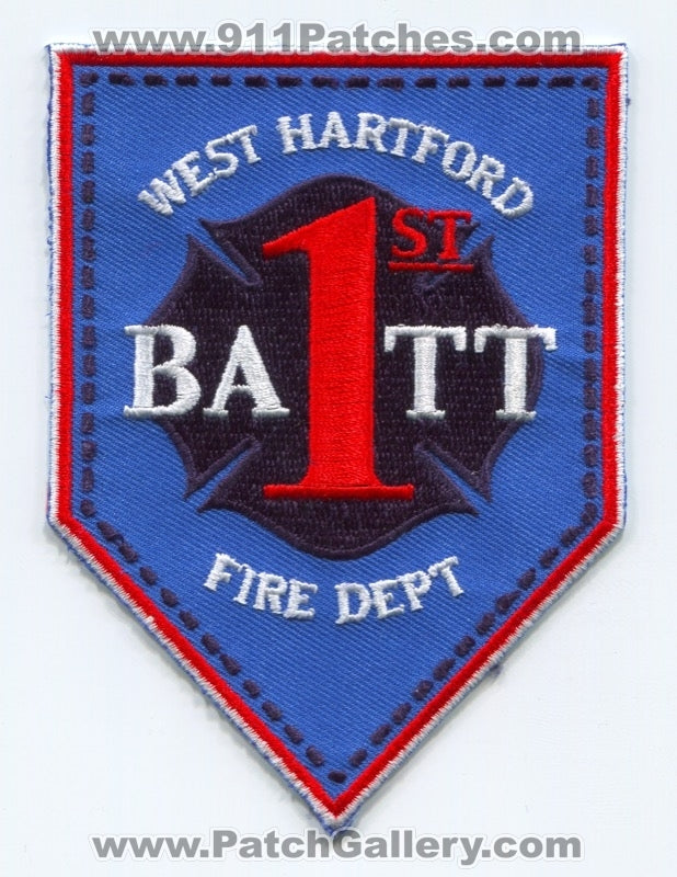 West Hartford Fire Department Battalion 1 Patch Connecticut CT