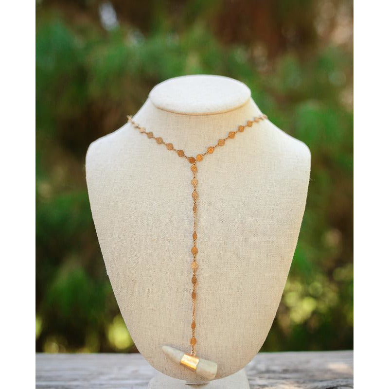 THE GLAM HUNTRESS Antler Tip Necklace - Lariat