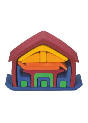 Gluckskafer All In House - Wooden Toy House