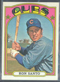 Baseball Cards - 1972 Topps Ron Santo #555 - Cubs