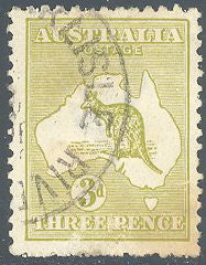 Australia 47a Used - Kangaroo - Repaired Tear