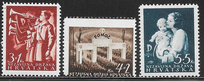 Croatia B13-B15 MNH - National Wellfare