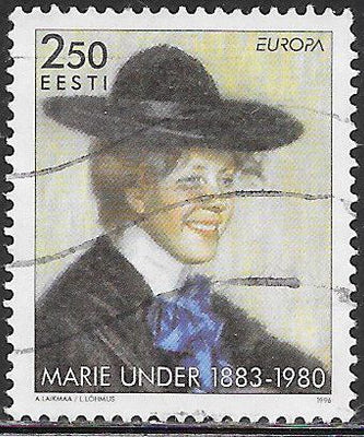 Estonia 306 Used - ‭‭Europa - Famous Women - Marie Under (1883-1980), Poet