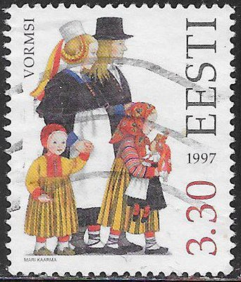 Estonia 326 Used - Traditional Costumes - Vormsi