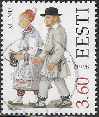Estonia 347 Used - Traditional Costumes - ‭Kihnu Couple