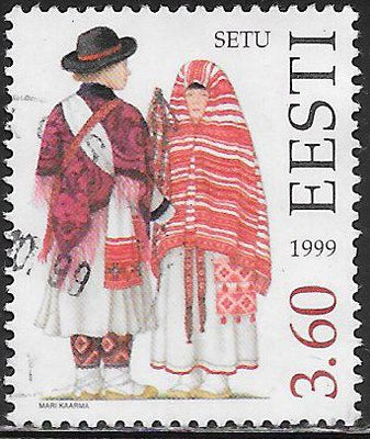 Estonia 369 Used - Traditional Costumes - ‭Setu Couple