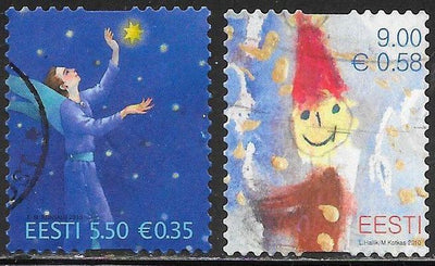 Estonia 655-656 Used - ‭Christmas