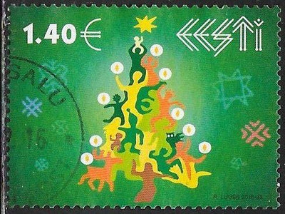 Estonia 831 Used - Christmas - Stylized Christmas Tree
