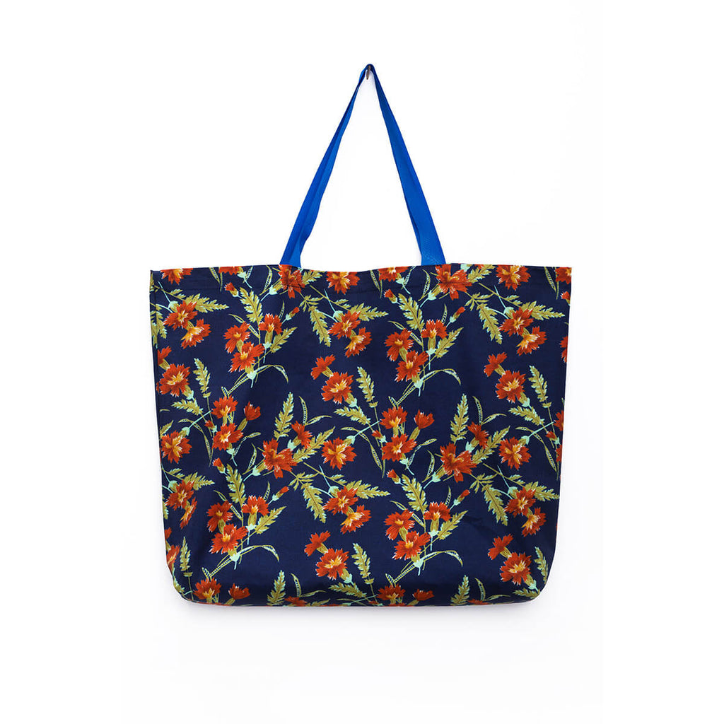 Unique collectible Marit Ilison 77 chintzes printed cotton tote bag