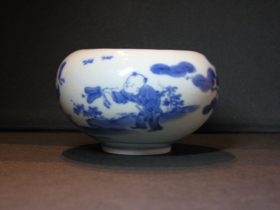 A small Hirado blue and white porcelain jarlet. - asianartlondon