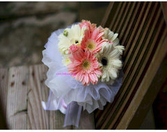 Simple Gerbera Bridal Bouquet  - WED0196