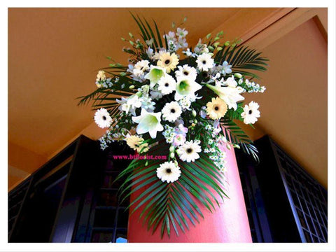 Pillar Flower Arrangement  - WED0801