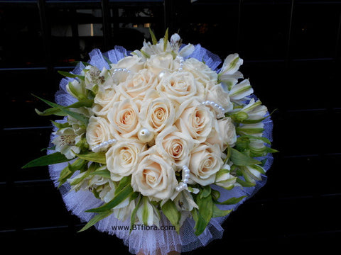 Rose & Alstroemeria Bridal Bouquet  - WED0107W