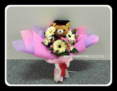 Graduation Rilakkuma Bouquet (Fresh Flower)  - BBQ1369