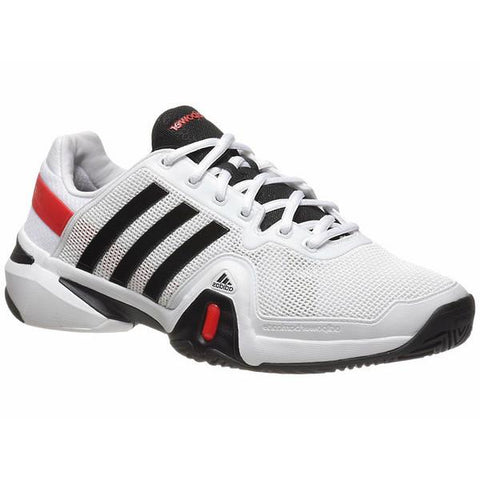 Men's Shoes - Adidas Barricade 8 White/Black Men's Shoes