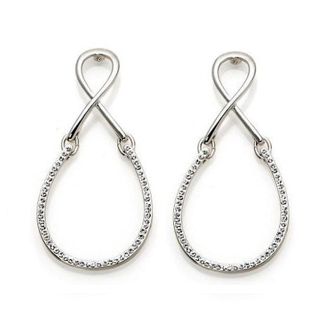 """La Jeunesse"" Looped Pave' Crystal Drop Earrings"