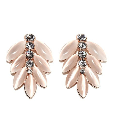 "Roberto by RFM ""Romantico"" stone and crystal earrings"