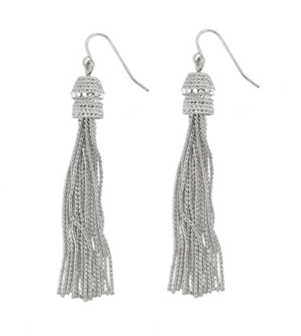 "Roberto di RFM ""MULINO"" Drop earrings with tassels and chains tassels"
