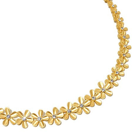 "Roberto by RFM ""Un Giardino"" Goldtone Floral Necklace 17"""
