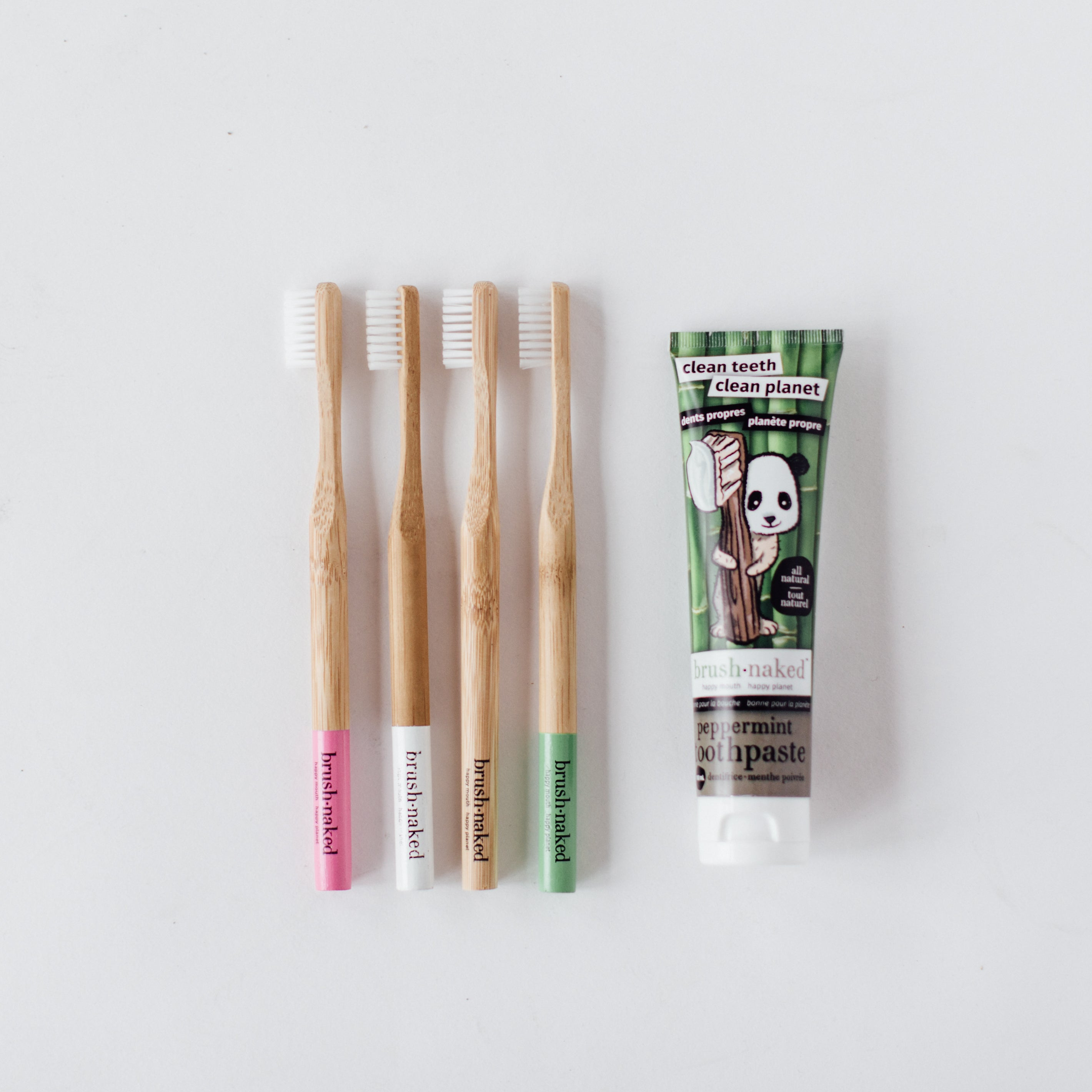 All Natural Toothpaste and a 4-Pack of Toothbrushes Combo Pack