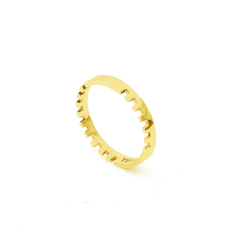 Gold Anthem ring