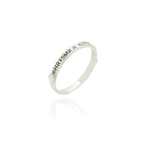 Sirius Stacking Ring in Silver