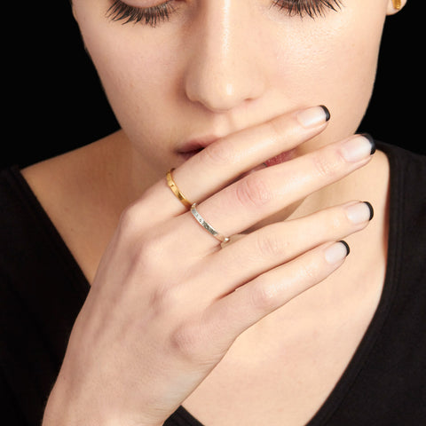 Sirius Stacking Ring in Gold