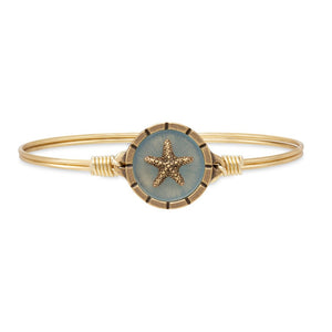 Luca + Danni Brass Tone Starfish Isla Bangle