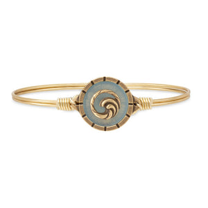 Luca + Danni Brass Tone Wave Isla Bangle