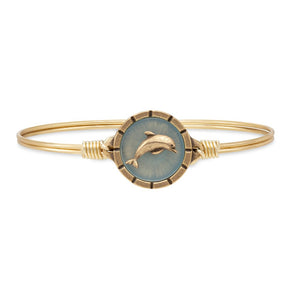 Luca + Danni Brass Tone Dolphin Isla Bangle